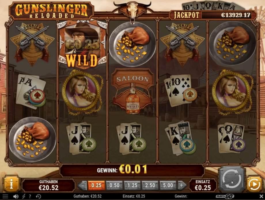 Gunslinger Reoladed der Play'n GO Slot mit Progressiven Jackpot