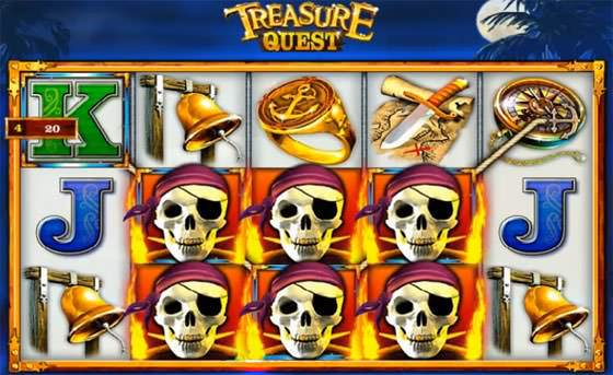 Screenshot von Treasure Hunt online