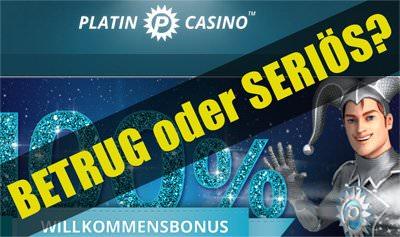Platin Casino: Betrug oder seriös?