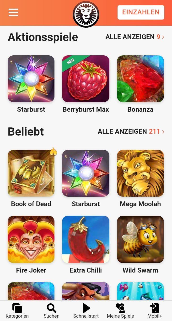 Die LeoVegas Web-App