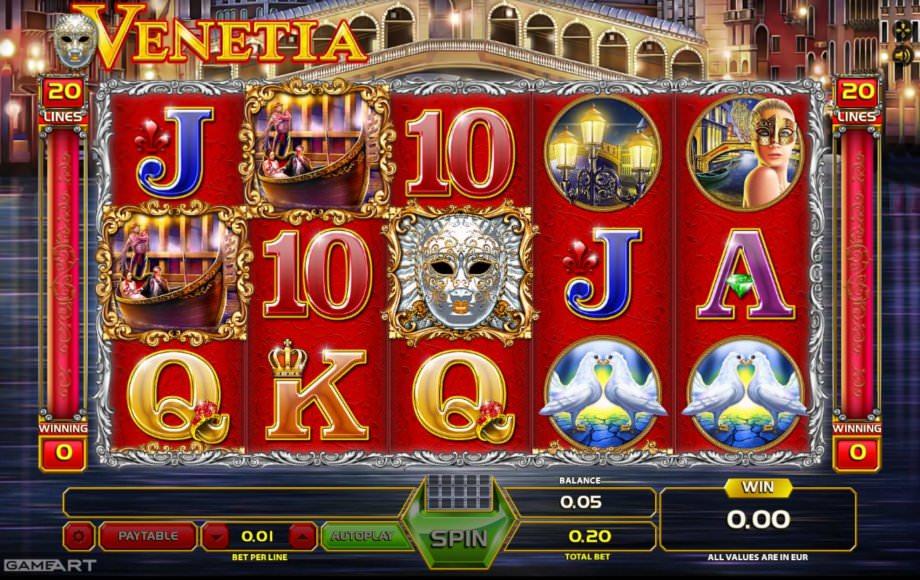 Der Spielautomat Venetia von GameArt