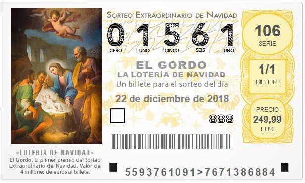 Lost der spanischen Weihnachtslotterie