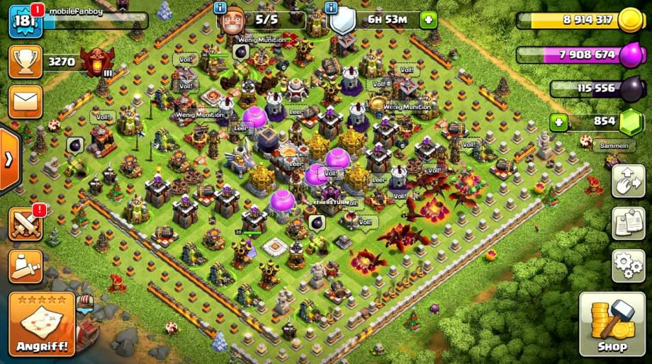 Clash of Clans Screenshot vom Android