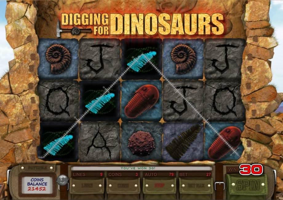 Der Saucify Spielautomat von Digging for Dinosaurs