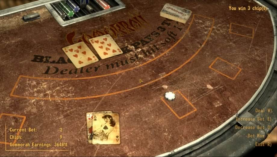 Blackjack Tisch bei Fallout: New Vegas