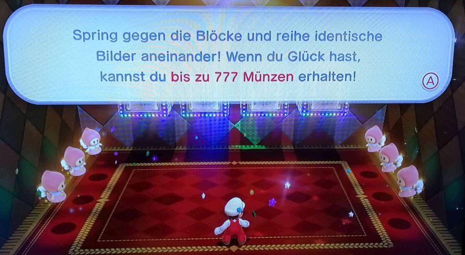 Bonusgame bis zu 777 Münzen bei Super Mario 3D gewinnen