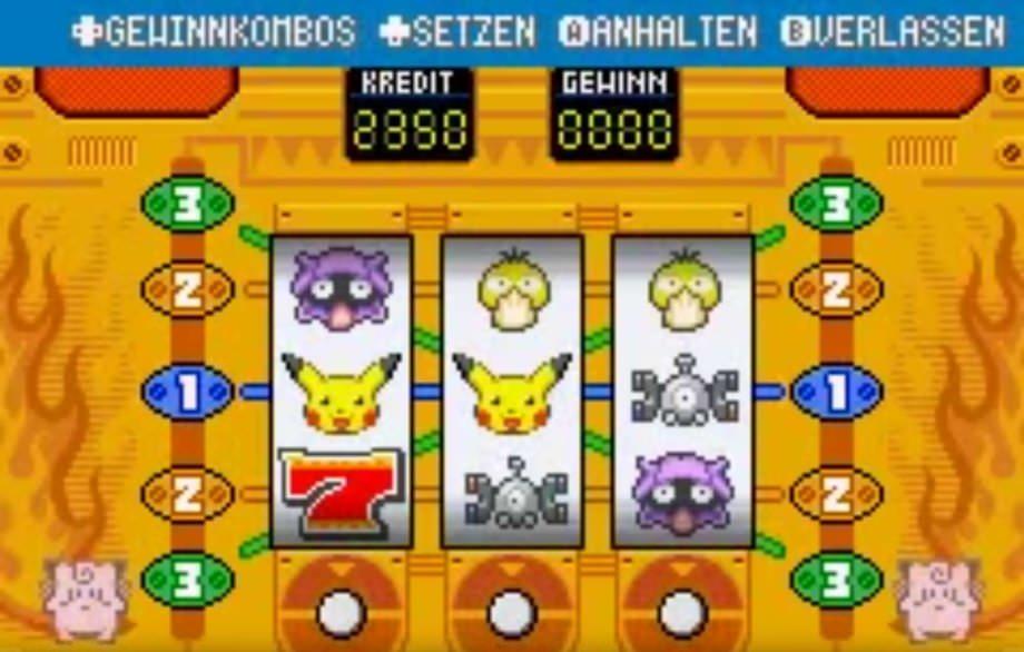Spielautomat Pokémon Feuerrote Edition