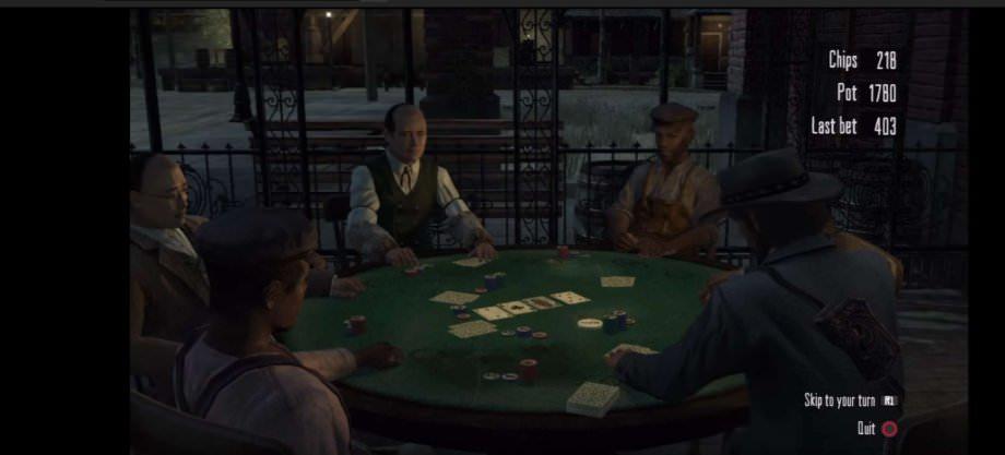 Pokerrunde im Salon bei Red Dead Redemption