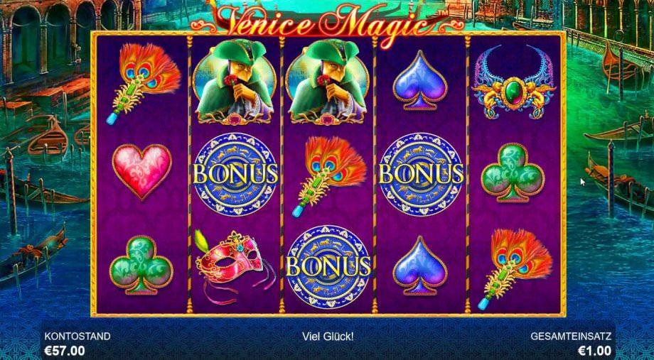Venice Magic: Einlaufen der Bonus-Symbole