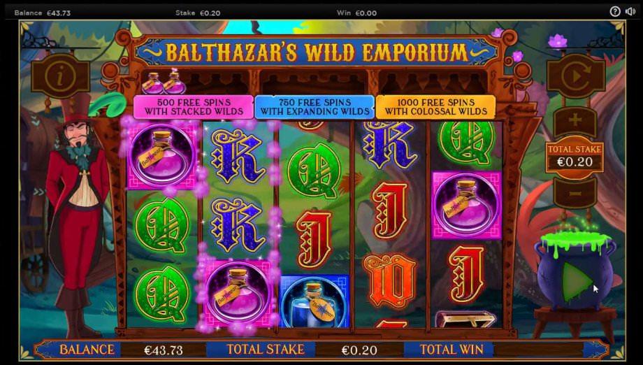 Fast Freispiele bei Balthazar's Wild Emporium