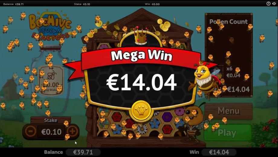 Mega Win Anzeige