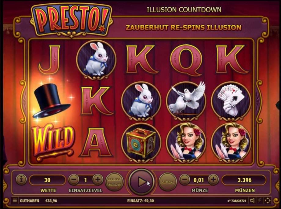 Spielautomat Presto! von Habanero Systems