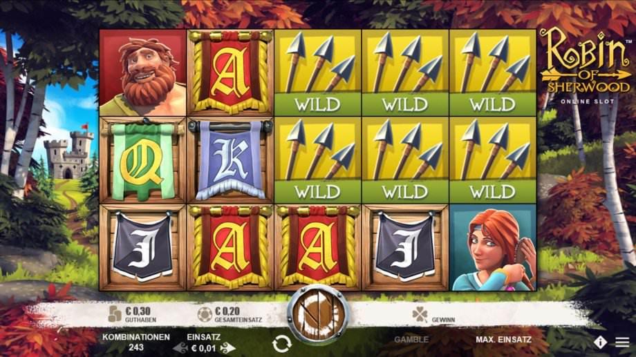 Robi9n of Sherwood - ein neuer Microgaming Slot