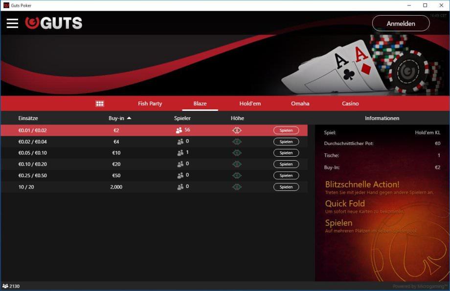 Neuer Poker-Client bei GUTS