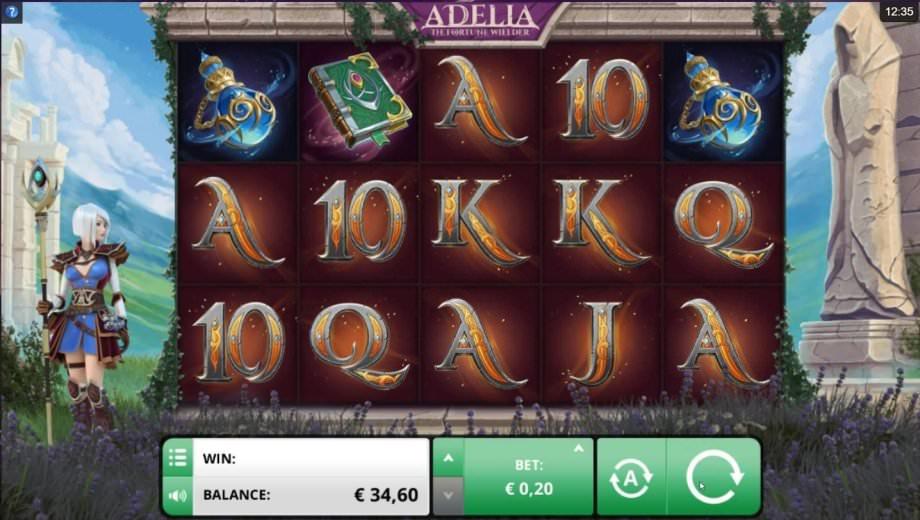 Der Spielautomat Adelia - The Fortune Wielder von Foxium