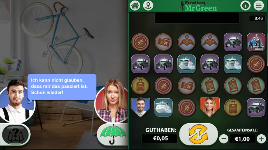 Finding Mr Green - der neue exklusive Slot