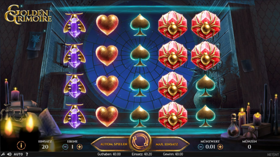 Der neue NetEnt Slot Golden Grimoire