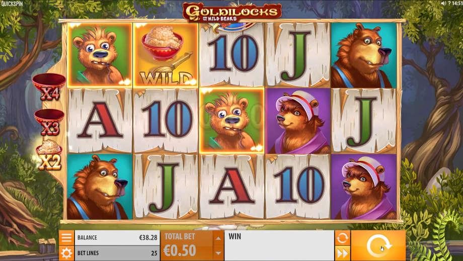 Der Spielautomat Goldilocks von Quickspin