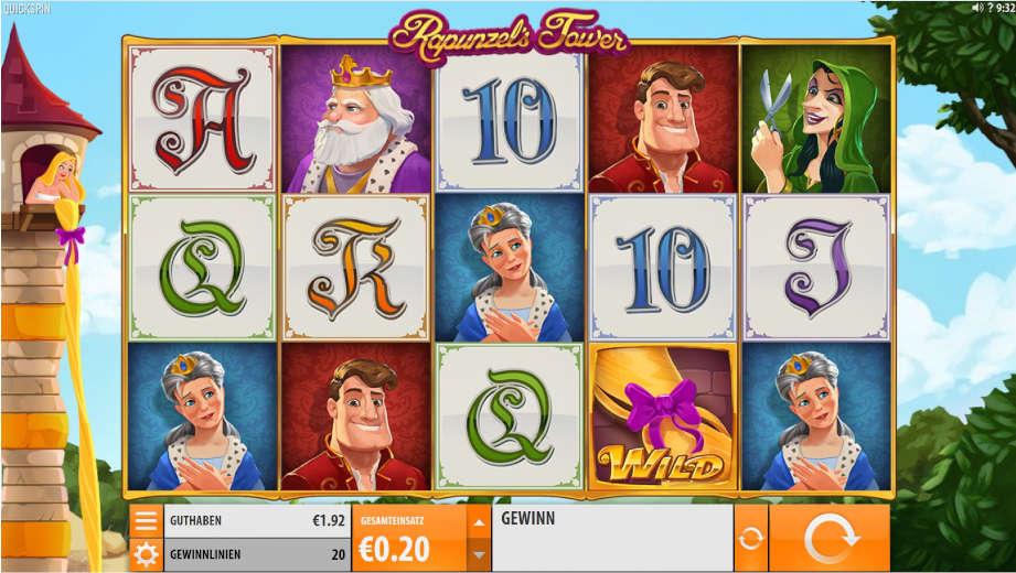 Der Slot Rapunzel's Tower von Quickspin