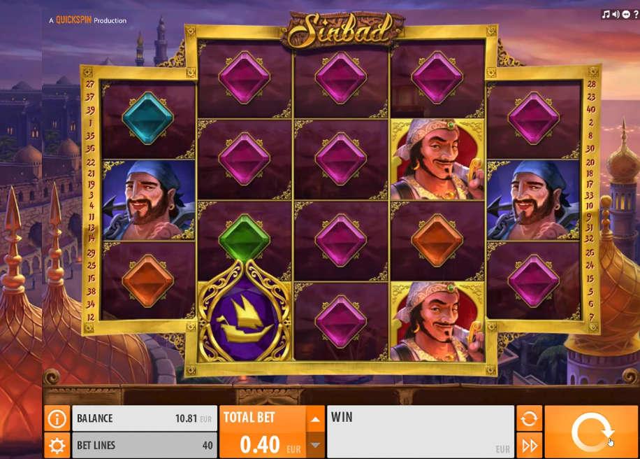 Sinbad Slot von Quickspin