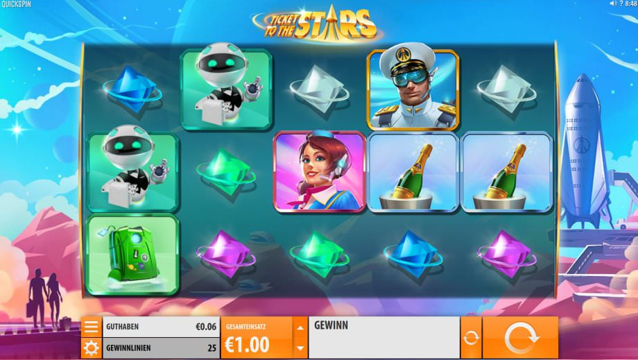 Der Quickspin Slot Ticket to the Stars