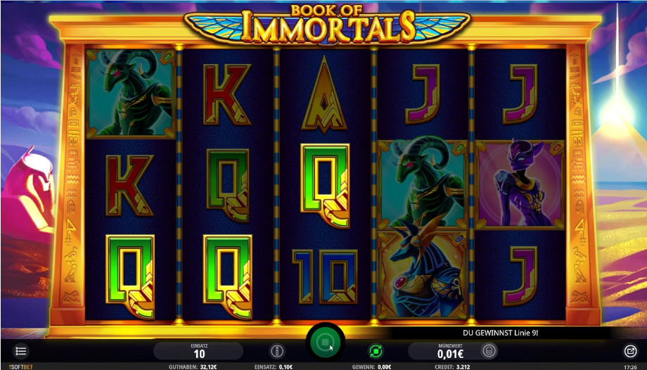 Der Slot Book of Immortals von iSoftBet
