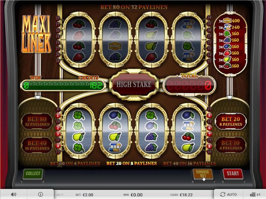 Der Slot Maxi Liner vom Imagina Gaming