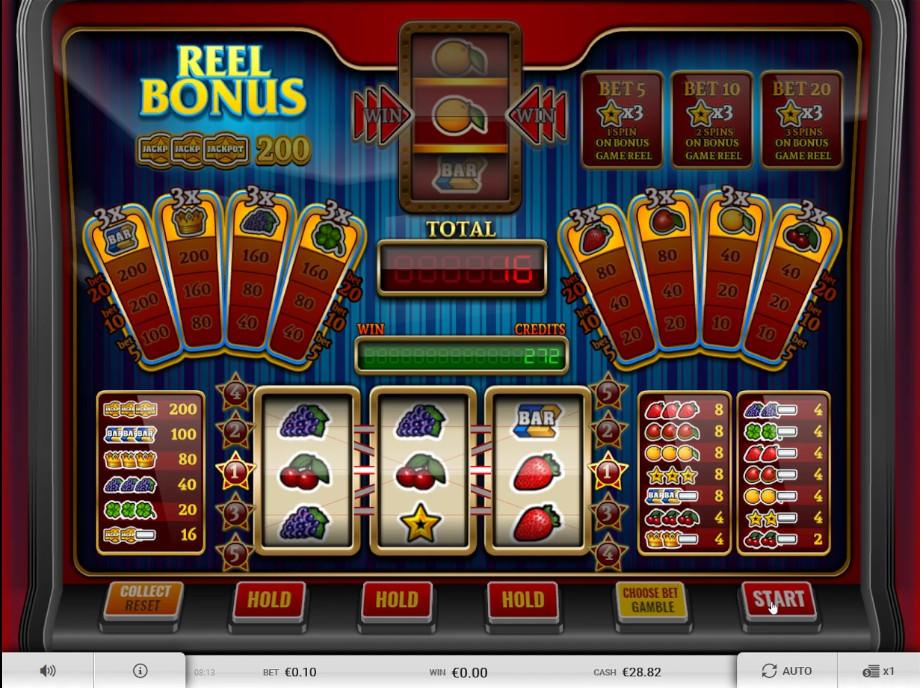 Der Spielautomat Reel Bonus von Imagina Gaming