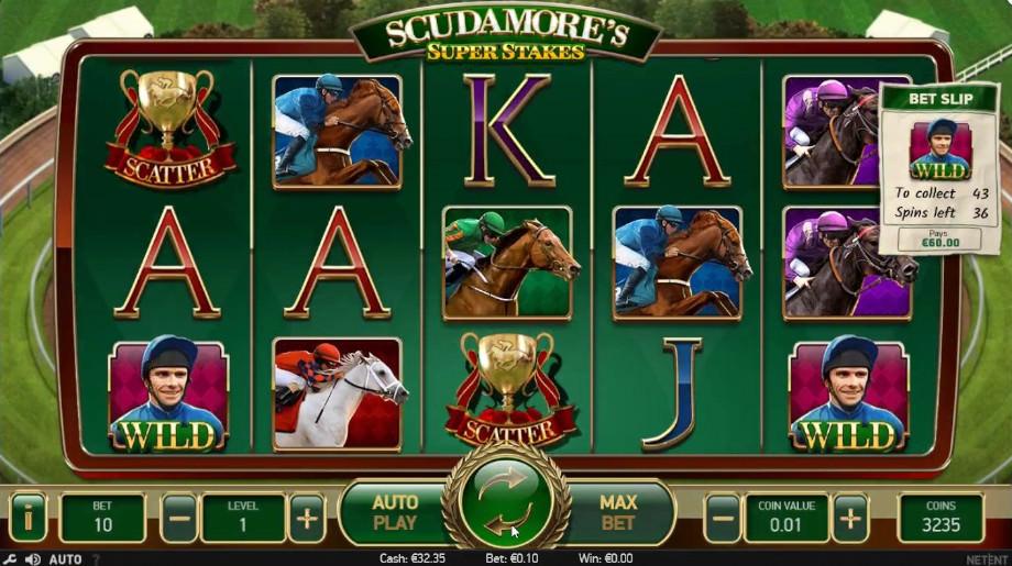 Der neue NetEnt Slot Scudamores Super Stakes