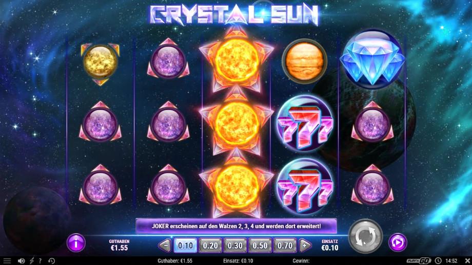 Der neue Play'n GO Spielautomat Crystal Sun