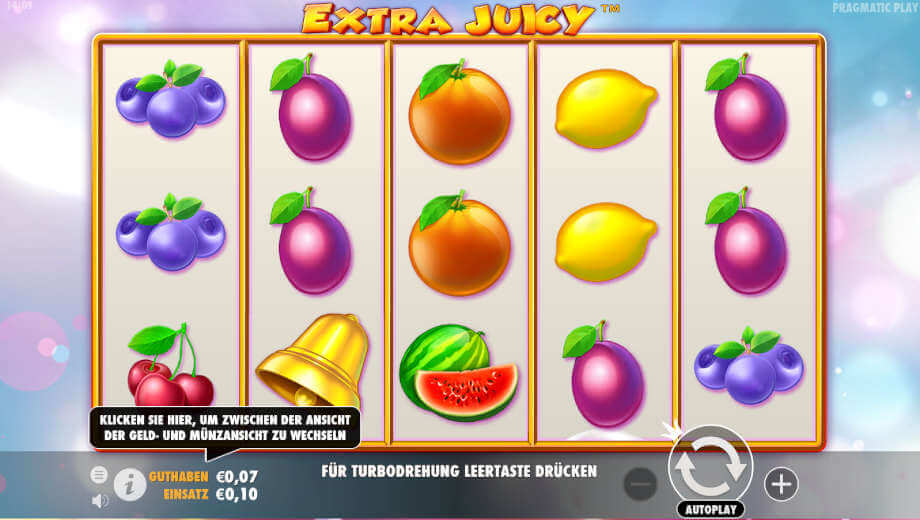 Der Slot Extra Juicy von Pragmatic Play