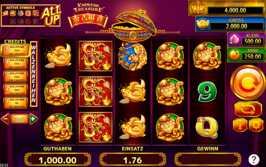 Der Slot Jin Ji Bao XI Endless Treasure von Scientific Games
