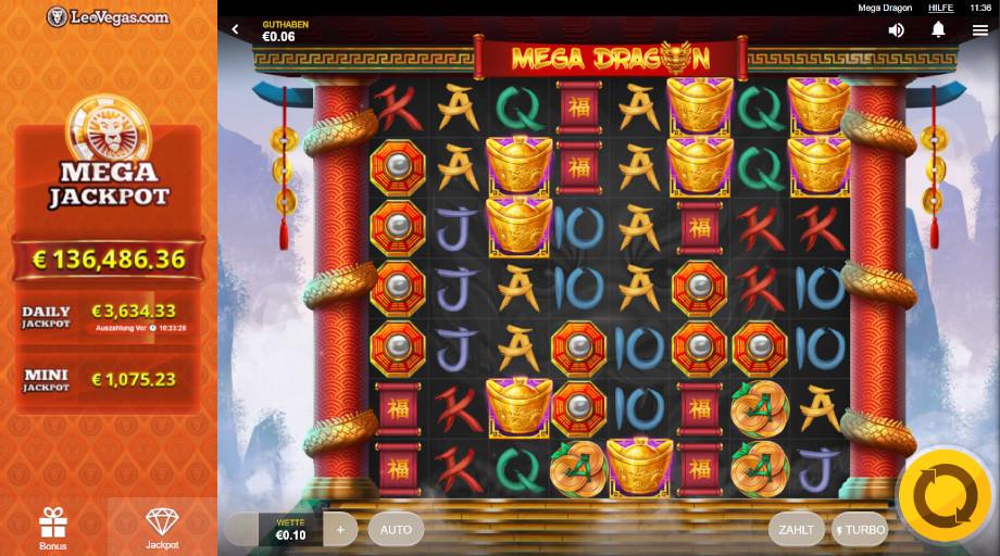 Der neue Red Tiger Slot Mega Dragon