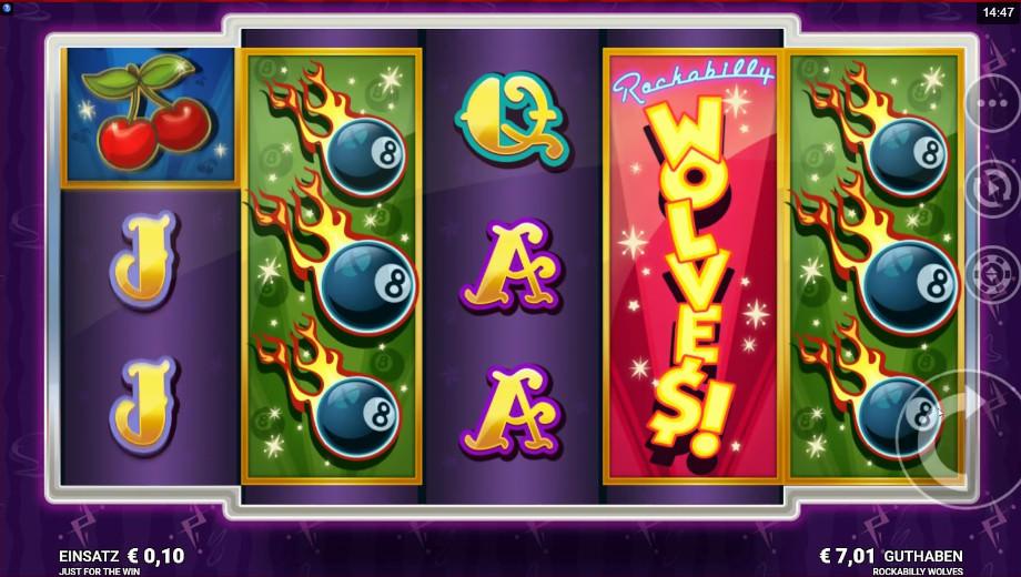 Der neue Spielautomat Rockabilly Wolves von Just for the Win