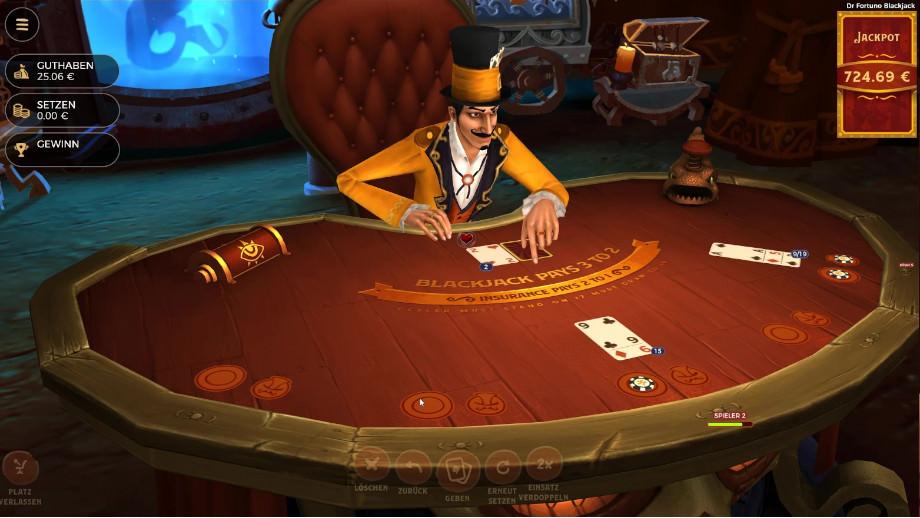 Das Gameplay von Dr Fortuno Blackjack