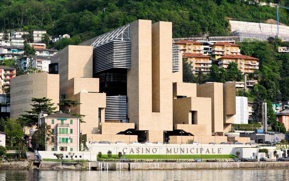 Campione d'Italia Casino vom Wasser