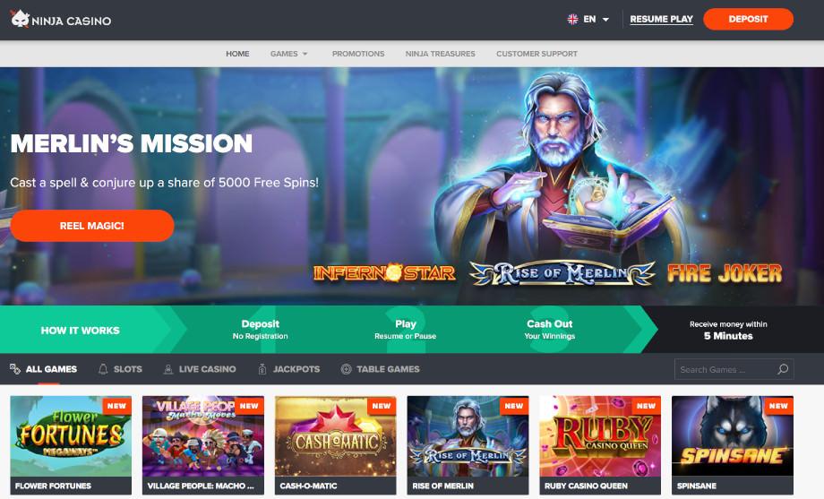 Das Ninja Casino hat die Lizenzen von Schweden und Curaçao verloren