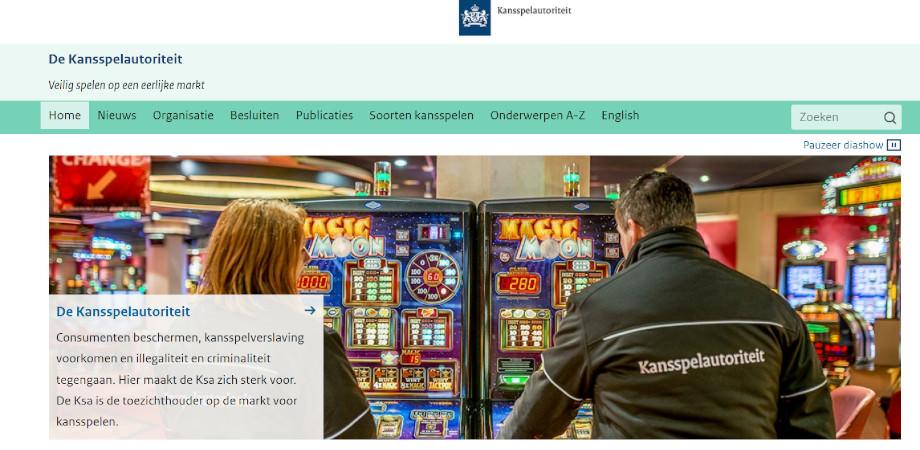 Webseite der Regulierungsbehörde Kansspelautoriteit