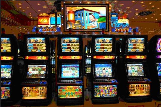Spielautomaten in der Spielbank Bad Hombug