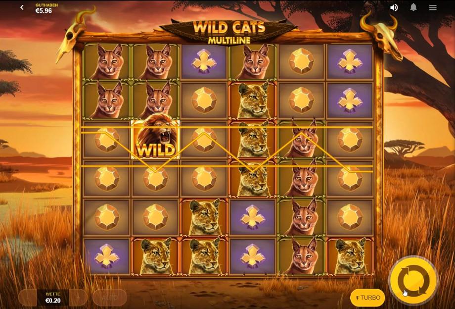Wild Cats Multiline von Red Tiger