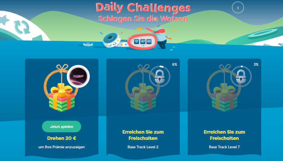 Die Daily Challenges bei PlayFrank