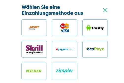 Die Einzahlungsmethoden bei PlayFrank