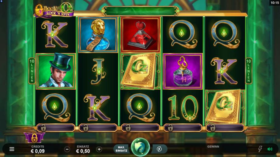 Book of Oz Lock ´N Spin von Microgaming