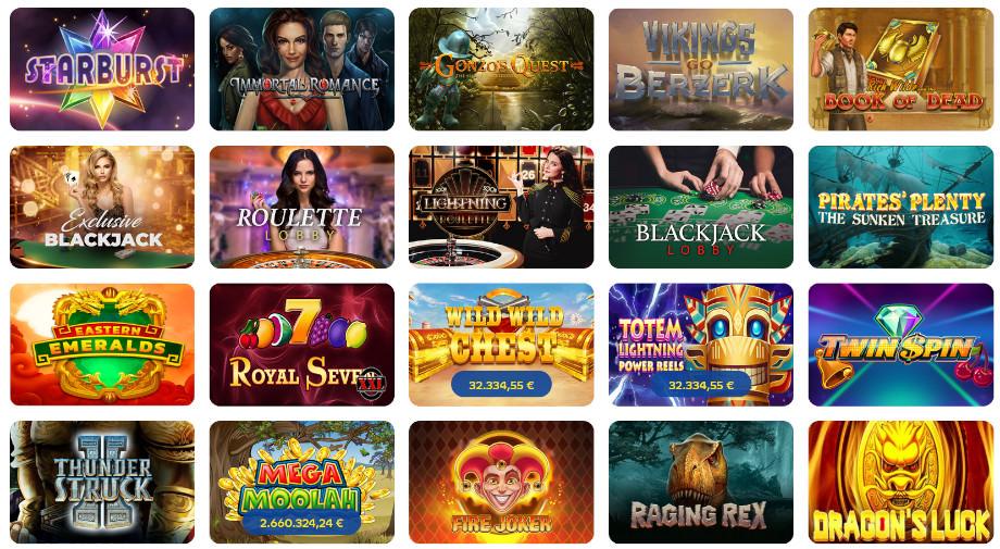 Die Spielauswahl beim Pelaa Casino