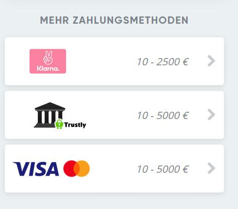 Die Einzahlungsmethoden bei SimpleCasino