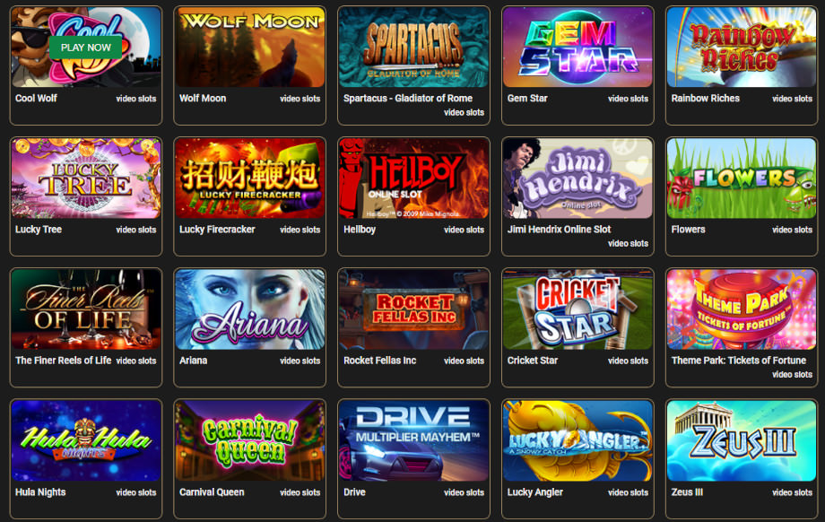 CasinoCasino.com Spielauswahl