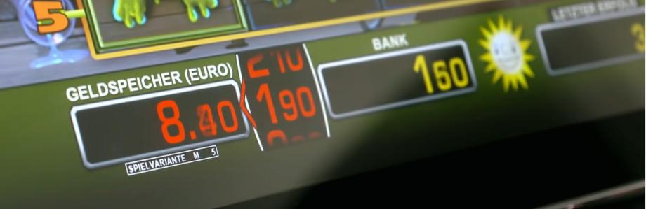 Detail eines TR 5.0 Spielautomaten mit Umbuchung von Geld