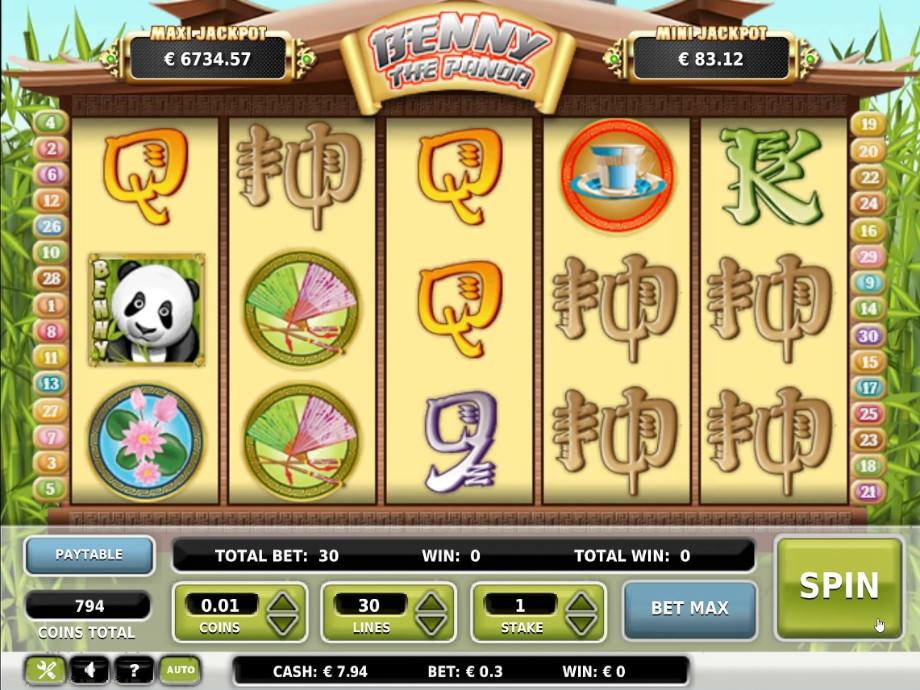 Benny the Panda der Jackpot Slot von OMI Gaming