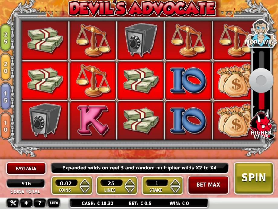 Der Slot Devil's Advocate von OMI Games