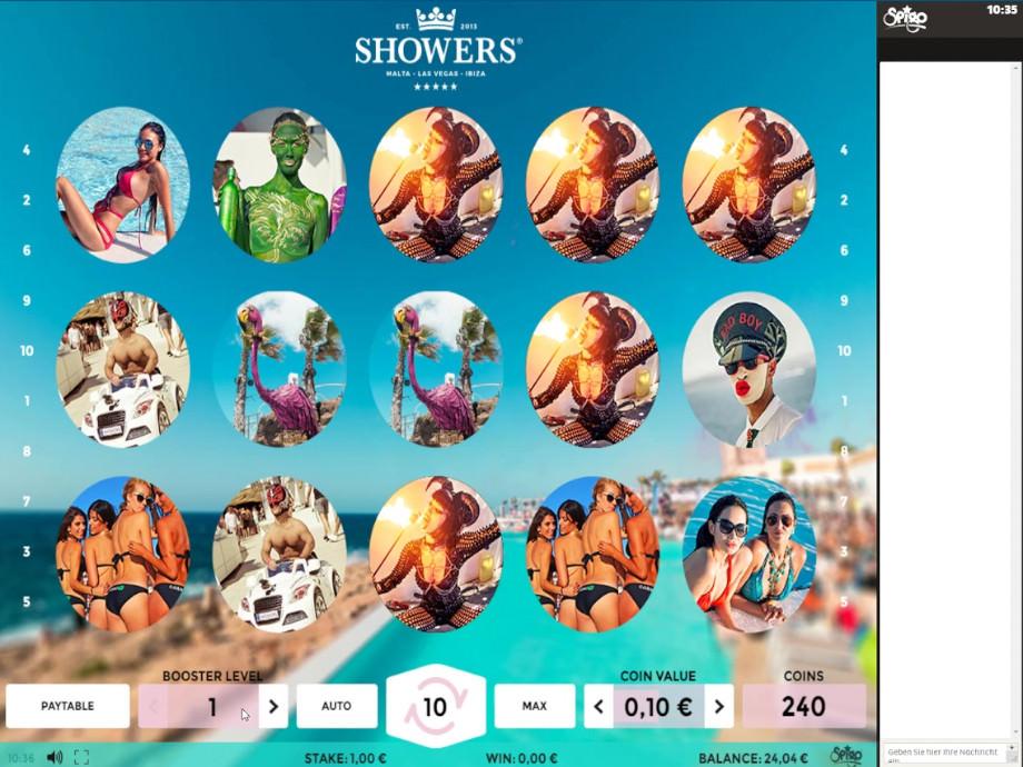 Der Spigo Slot Showers